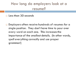 CREATING A RESUME What Is A Resume Also Known As A CV. What Words Do Employers  Look ...