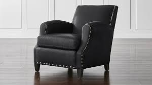 Black Leather Chair Crate And Barrel44
