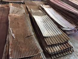reclaimed rusty large corrugated metal roof panels 200 square feet