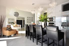 drum shade crystal chandelier kitchen modern with breakfast bar ceiling lighting