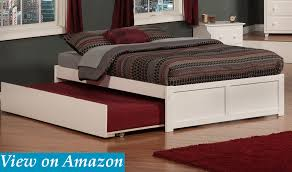 Concord Bed: Flat Panel Foot Board Full Size Trundle Bed