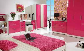 Bedroom:Pink And Black Bedroom Designs Pink Yellow Cabinet Beside Bed  Colorful Rug On Floor
