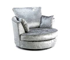 new round swivel cuddle chair cream silver black crushed velvet fabric fast delivery