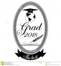 Graduation Emblem Badge Design Template Stock Vector Illustration