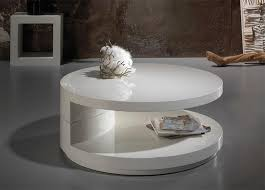 captivating round white coffee table home and kitchen with modern table and shelf white lacquer coffee