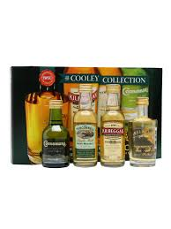 cooley collection irish whiskey miniatures 4 pk