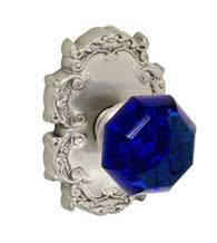 Interesting Blue Glass Door Knobs Knob With Victorian Rose Fusion And Inspiration Decorating