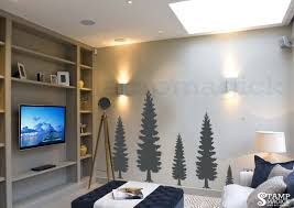 >pine trees forest wall decal k374 stampmagick wall decals pine trees forest wall decal k374