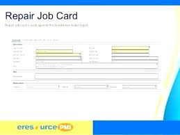 Perfect Workshop Job Card Template Excel In Format Free