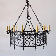 italian wrought iron chandelier