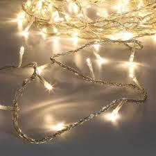 fairy lighting. 40 warm white led fairy string lights on clear cable 32m lighting