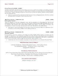 Career Resume For Preschool Teacher Mmventures Co