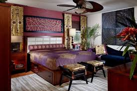 gold purple bed design