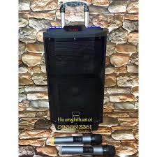 Loa karaoke cực hay DJ K5 thùng gỗ bass 2,5 tấc có loa trung, âm thanh cực  hay hát phê kèm 2 micro UHF không dây