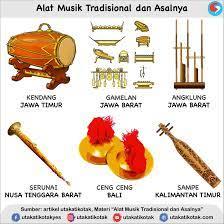 Alat musik tradisional merupakan alat musik yang telah lama berkembang sebelum adanya sentuhan budaya. Alat Musik Tradisional Dan Asal Daerahnya