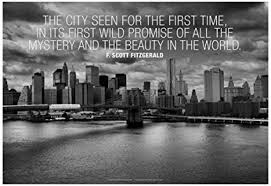 New York Quotes Interesting Amazon F Scott Fitzgerald New York Quote Poster 48 X 48in