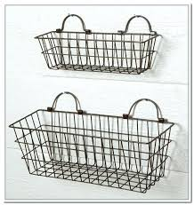 wall mounted metal basket rustic wire baskets enjoyable design ideas wall hanging with best mounted on wall mounted metal basket