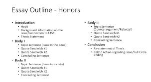 Essey Outline Powell Deeon Argumentative Essay Outline