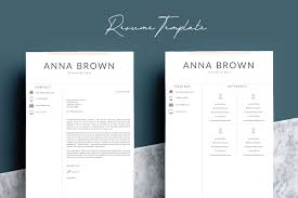 2 Page Resume Template Word Resume Templates Creative Market Pro