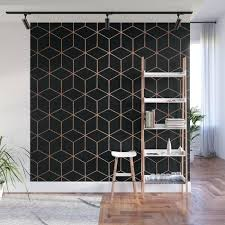 geometric wall murals rose gold copper and black geometric wall mural 3d geometric wall murals geometric