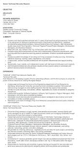Recruiter Resume Template Stunning Recruiter Sample Resume Corporate Resume Samples Hr Recruiter