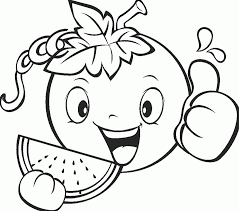 Cute Fruit Coloring Page Coloring Pages Kids Cute Coloring Pages