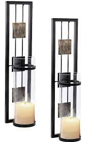 2 sets metal candle holder wall mounted