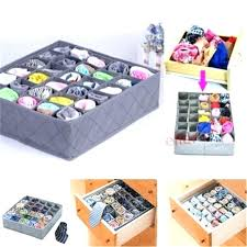 sock drawer organizer storage box cells bamboo charcoal underwear socks x for pick up the dividers