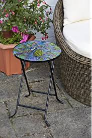 round outdoor metal table. Folding Drinks Table Peacock Design Round Outdoor Metal