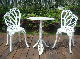 white iron garden furniture. interesting garden 3 piece hot sale cast aluminum patio furniture garden outdoor  chairs an table in white with iron