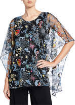 Zodiac Embroidered Lined Caftan