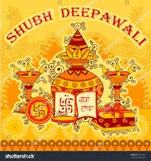 Diwali Kalash Designs Vector Design Diwali Decorated Kalash Diya Stock Image