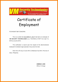 13 Employment Certificate To Whom It May Concern