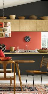 wood colours for furniture. coral back wall wooden kitchen anthracite walls midcentury furniture yes please wood colours for o