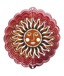 love this red copper sun face wind spinner