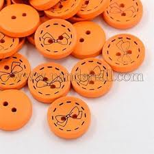 Wholesale <b>2</b>-<b>Hole Wooden Buttons</b>, Dyed Flat Round Button with ...