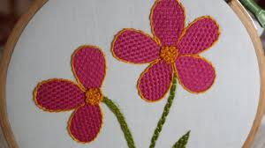 Stitch N Time Embroidery Designs Hand Embroidery Designs Checkered Flower Stitch Stitch