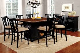 counter height dining table set. Sabrina Country Style 9pc Cherry \u0026 Black Finish Counter Height Dining Table Set