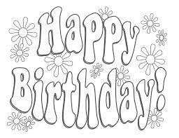 Happy Birthday Coloring Pages Printable Only Coloring Pages