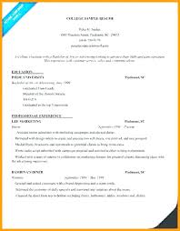 Resume For College Application Custom College Application Resume Outline Llun