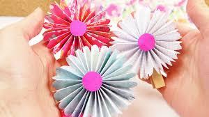 Diy Frühlings Blumen Aus Papier Dekoideen Einfach Und Schön