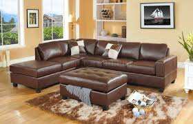 Furniture Best Design Brown Leather Sectional For Modern