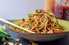 Asian noodles with peanut butter