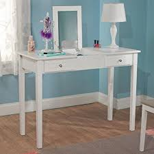 white desk with drawers and mirror. Delighful And Bedroom White Charming Vanity Desk With Mirror Perfect For Girls Makeup Or  Writing Desks Home Intended With Drawers And O