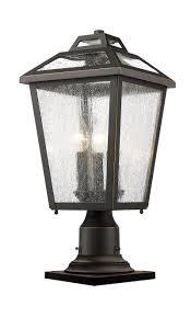 Outdoor Pier Mount Light Fixtures Z Lite 539phmr 533pm Orb 3 Light Outdoor Pier Mount Light