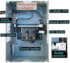 30 amp breaker wiring diagram 30 wiring diagrams online how to install a subpanel how to install main lug