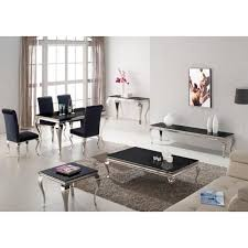 black and chrome furniture. louis 110cm black and chrome coffee table furniture d
