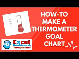 Fundraising Goal Chart Template How To Make A Thermometer Goal Chart In Excel