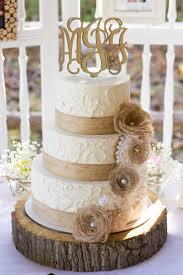 Rustic Burlap And Lace Wedding Cake Wedding Cakes Pinterest