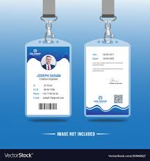 Identity Card Design Abstract Identification Or Id Card Design Vector Image